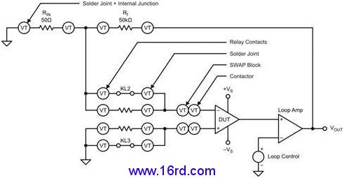 测试运算放大器的输入偏置电流